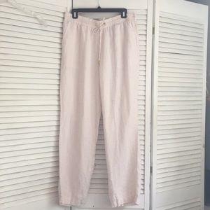 Ellen Tracy 100% linen drawstring pant. Large